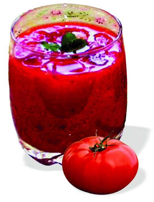 Tomato basil summer drink