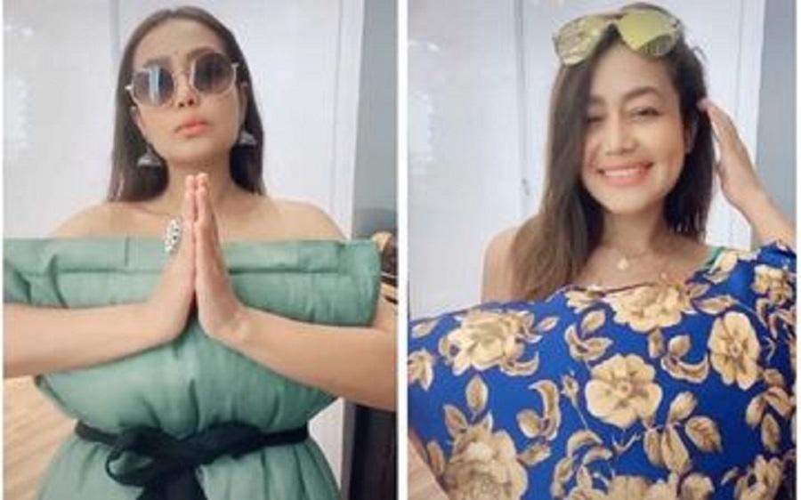 Neha Kakkar Slays The Instagram Pillow Challenge; Fans Shower Her With Love