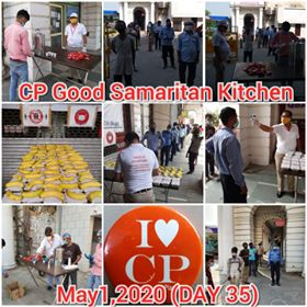 Traders Of Connaught Place Continue Feeding The Workers & Distributing Sanitizers