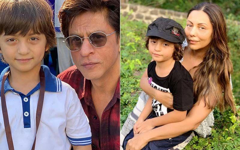 AbRam Khan And Shah Rukh Khan AbRam Khan And Gauri Khan