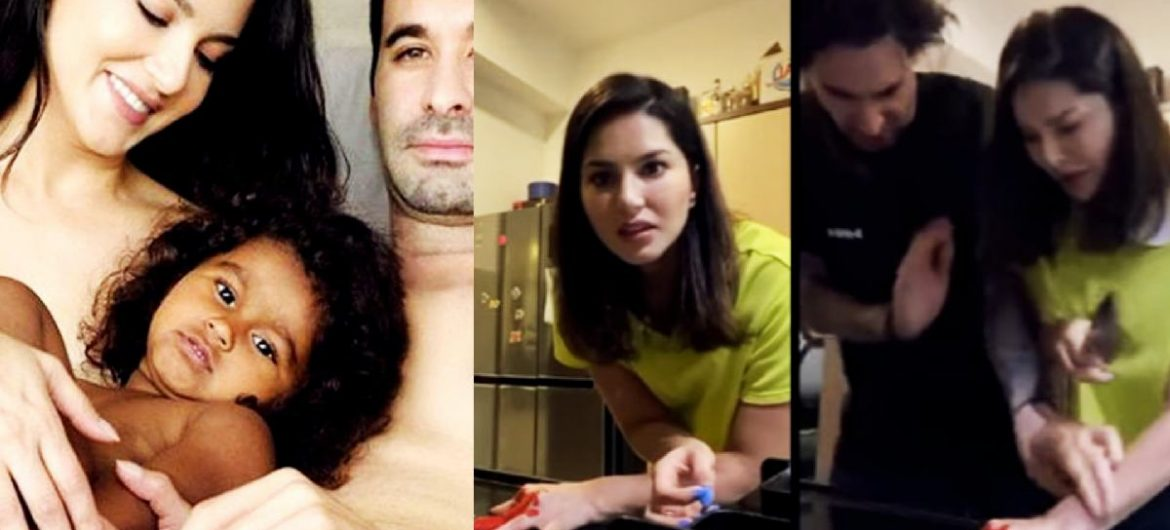 Sunny Leone Plays A Smart Prank On Hubby Daniel Weber; Unimpressed, He Rates It A ZERO- Watch Video