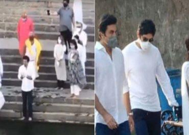 Ranbir Kapoor, Neetu, Riddhima & Alia Bhatt Reach Banganga To Immerse