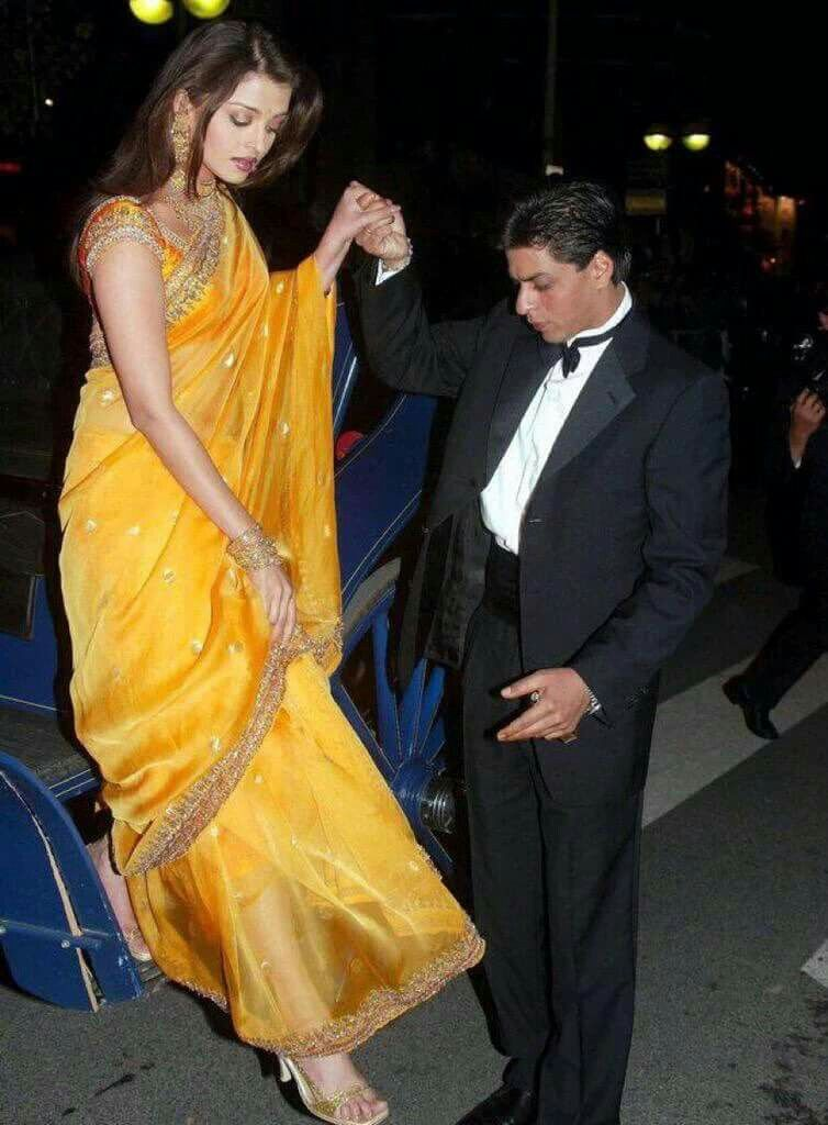 Aishwarya Rai alongside Shah Rukh Khan