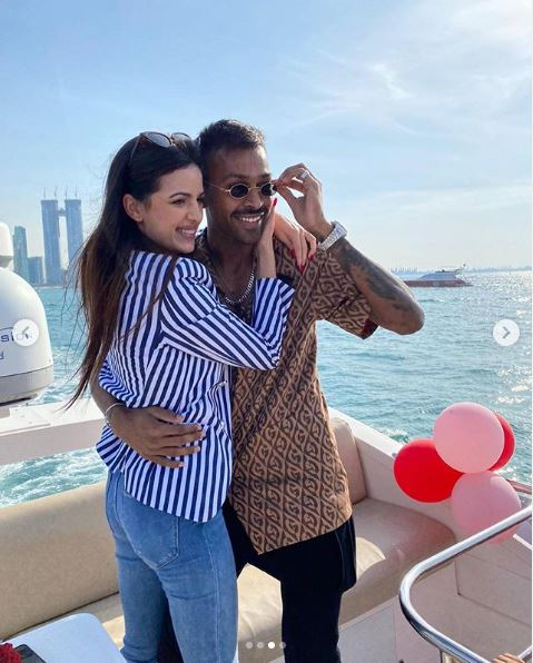 Hardik Pandya and Natasha Stankovic engagement
