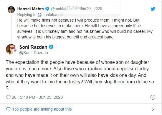 Alia Bhatt Mother Soni Randan tweet on Sushant Singh Rajput suicide