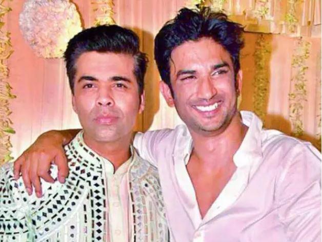 Karan Johar and Sushant Singh Rajput