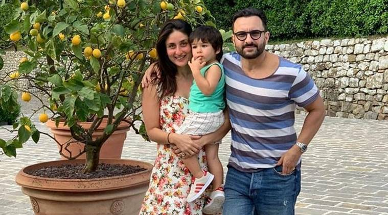 Kareena Kapoor with Saif Ali Khan and Taimur Ali Khan