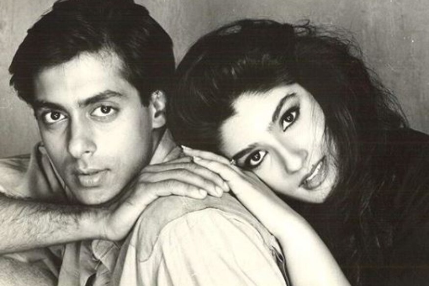 Salman Khan and Raveena Tandon
