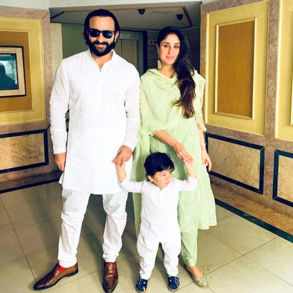 Saif Ali Khan and Kareena Kapoor Khan with son Taimur Ali Khan