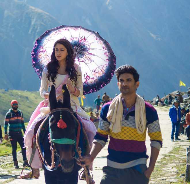 Sara Ali Khan and Sushant Singh Rajput in Kedarnath