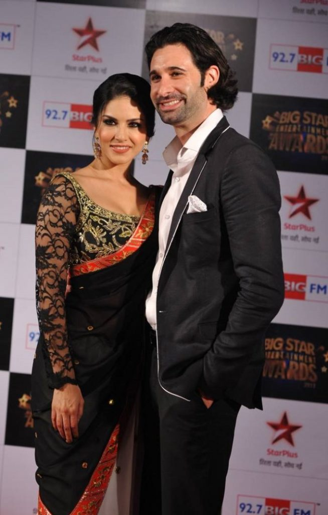 Bollywood actress Sunny Leone with Hubby Daniel webber
