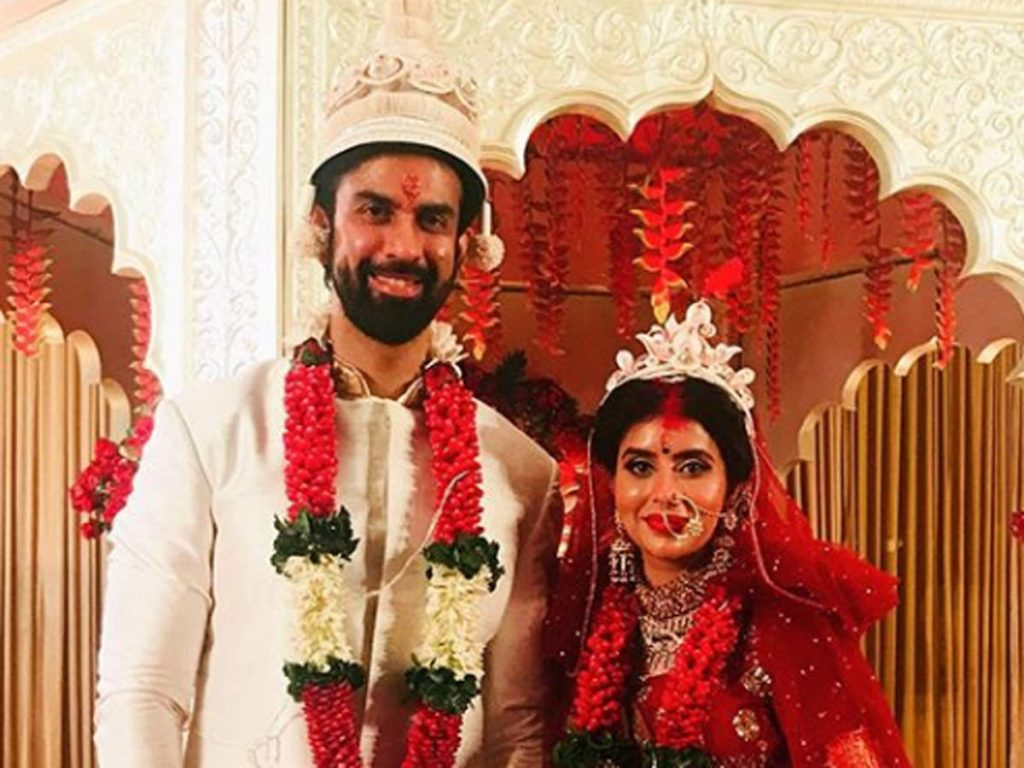 Charu Asopa and Rajeev Sen wedding picture