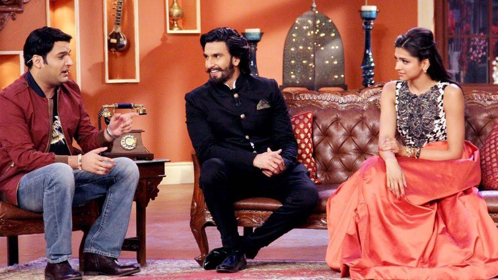 Kapil Sharma with Deepika Padukone and Ranveer Singh