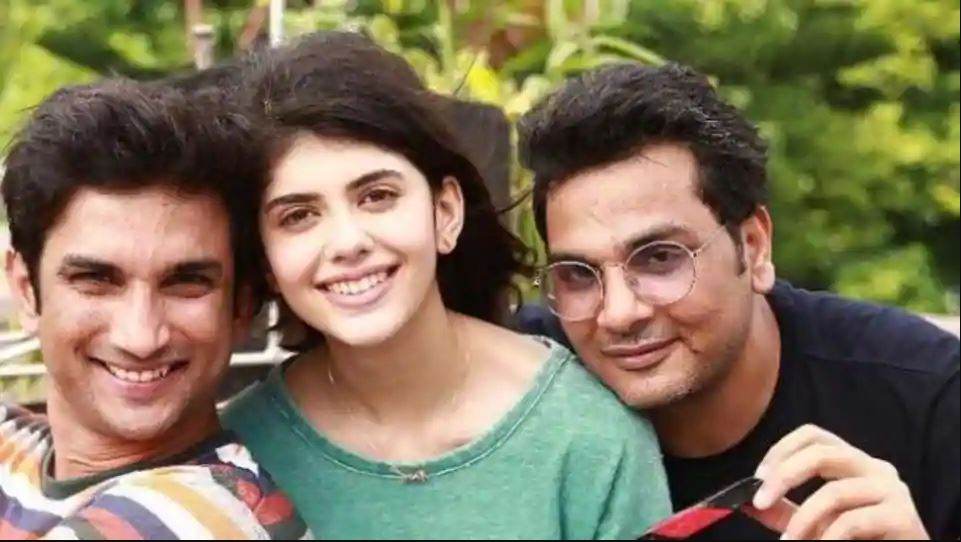 Sushant Singh Rajput with Sanjana Sanghi and Dil Bechara Director Mukesh Chhabra