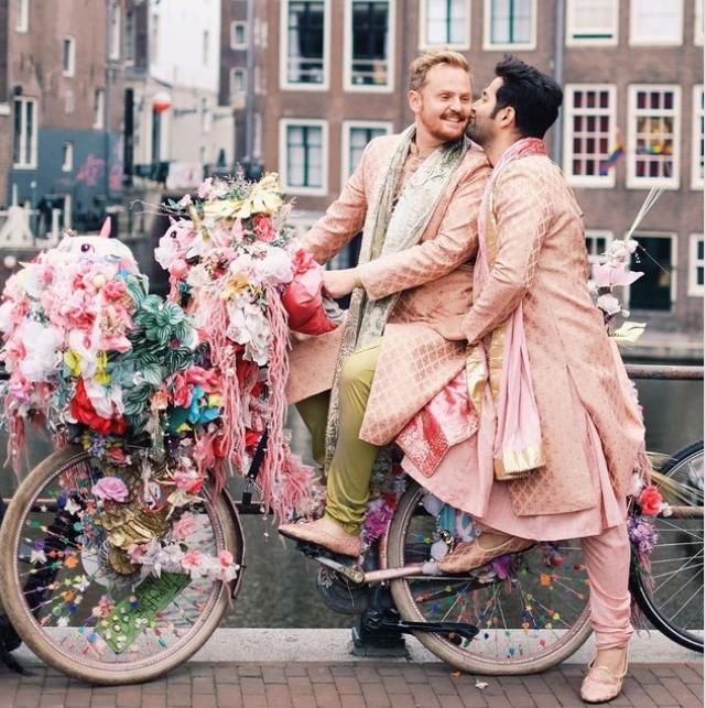 Same-Sex Couple Have A Desi Wedding With Mehendi & Haldi, See Pics -